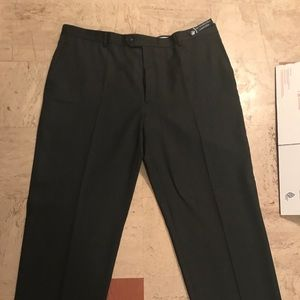 Wool Dress Pants (Herringbone Pattern) Made in USA